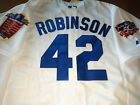 New Tag White/ivory Los Angeles Dodgers #42 Jackie Robinson 2Patch sewn Jersey on Ebay