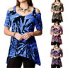 Womens Cold Shoulder irregularity Summer Tops Ladies Loose Casual Blouse Tee BD
