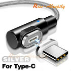 90 Degree 3A Magnetic USB Type C Micro USB Fast Data Sync Charging Charger Cable
