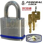 Federal FD850 Heavy Duty Solid Stainless Steel Marine Weather Resistant Padlocks