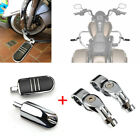 Chrome Motorcycle Foot Pegs Set Male w/ Mount Bracker For Harley Chopper Touring