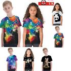 Children 3D Printed T Shirt Boys Girl Summer Tee Cloth Casual Top Blouse Costume