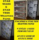 Exclusive STAR WARS or STAR TREK Wrapping Paper - Birthday Party Stormtrooper on eBay