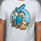 Minecraft Steve Pig Riding T-Shirt - Officially Licensed