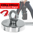 80mm 230kg Pull Force Recovery Fishing Magnet Neodymium Strong Salvage Magnet Uk