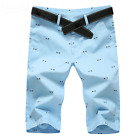 Men New 2019 Summer Cotton Straight Casual Bermuda Candy Colors Shorts Bottoms