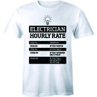Electrician Hourly Rate - Funny Electrical Engineer Men's Premium T-shirt Gift