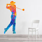 Golf Player Abstract Art Wall Decal Sticker WS-47107