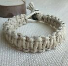"Natural Plain 7/8"" THICK Hemp Bracelet or Anklet Men's Unisex Pick Size image"