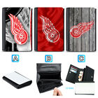 Detroit Red Wings Leather Wallet Purse Coin Credit Card ID Holde $14.99 USD on eBay