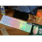 Rainbow Gaming Keyboard and Mouse Set Backlight Usb Ergonomic  for PC Laptop US