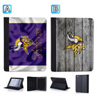 Minnesota Vikings Leather Case For iPad Mini 1 2 3 4 Pro 9.7 10.5 Air $19.99 USD on eBay