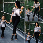 Family Matching Outfits Mother Daughter Women Girls Top T Shirt Leggings Clothes