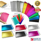 Coloured Metallic Foil Padded Bubble Mailing Postal 180x260mm Gift Bags Envelope