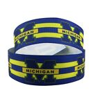 "GROSGRAIN MICHIGAN UNIVERSITY 1"" INCH RIBBON FOR HAIR BOWS DIY CRAFTS"