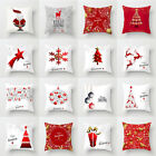 "18x18"" Christmas Pillow Case Polyester Home Sofa Car Throw Cushion Cover Decor"