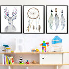 Als_ Hk- Modern Dream Catcher Elk Canvas Wall Painting Poster Home Decor Unframe