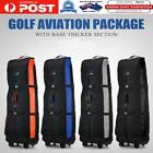 Portable Golf Bag Stand Air Travel Cover Large Flight Carrying Bag With Wheels