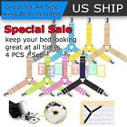 4pcs Bed Suspender Straps Mattress Fastener Holder Triangle Grippers Sheet Clips image