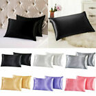 Pure Mulberry Silk Pillow Case Pillowcase Cover Housewife Queen Standard Cushion image