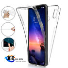 For Xiaomi Redmi Note 8 7 6 5 Pro 360° Full Protect Hybrid Clear Back Case Cover