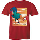 Funny Funky Rooster Eating Chicken Breed Lover Men's T-shirt Gift Tee Cartoon