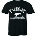 Exercise Some Motivation Required Shirt Funny Gym Fitness Training Lazy Tee