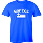Greece Scribble Flag Greek National Country Pride World Cup Tee Men's T-shirt