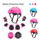 7Pcs Kids Sports Skating Protective Gear Set Safety Pad Helmet Knee Elbow Wrist image