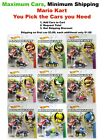 Hot Wheels Mario Kart You Pick Your Cars, Only $1.00 shipping on second car!