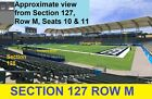 2 CHARGERS VIKINGS 12/15 Section~127 Row M *SEASON TICKETS* ROKit Field Carson