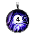 Number Four #4 Pool Ball Key Ring Necklace Cufflinks Tie Clip Ring Earrings $16.95 USD on eBay