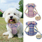 Small Puppy Dog Harness Mesh Nylon Cute Bowtie Dog Vest with Leash for Chihuahua