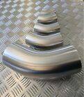 Stainless Steel 45 Degree Elbows Unpolished - Dull Finish Pipes Metal Angle