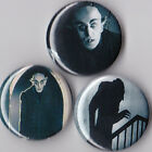"""Nosferatu 1"""" Pinback Buttons or Magnets set of 3"""