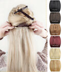 "20""100g One Piece Handmade Clip In Full Head 100% Real Human Hair Extensions"