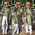 Children Kids Baby Girls Trench Coat Autumn Jacket Windbreaker Outerwear Coats