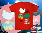 Woodstock 50Th Anniversary 1969-2019 Music T-Shirt Vintage Shirt Red For Fan image
