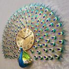 Large Peacock Wall Clock Modern Design Home Decor Wall Watch Living Room Bedroom