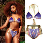 Retro Women's High Waist Bikini Set Swimwear Swimsuit Beachwear Bathing Suit