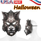 Wolf Halloween Horror Werewolf Scary Mask Dress Up Masks Costume Cosplay Party