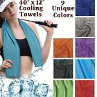 Cooling Towel Cold Chilling Sports Cloth Fitness Gym Yoga Pilates Ice Cool Chill image