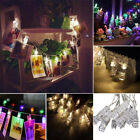 Led Photo Peg Clip String Lights Battery Powered For Party Wedding Home Decor