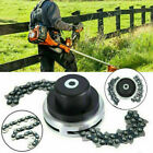 2 Types 1 Pair 65Mn Trimmer Head Coil Chain Brush Cutter Trimmer Grass For Lawn
