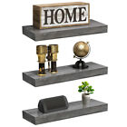 Sorbus Floating Shelf Set Rustic Wood Hanging Rectangle Wall Shelves 2 or 3 Pack