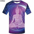 Men 3D Skull Illusion Printed Music Hip Hop Street wear Metal T Shirt Tops Tees