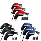 3PCs Golf Club Head Covers - 1,3&5 Wood Driver Head Covers Set Replacement Y E#V