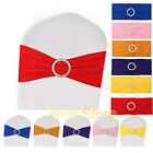 25/50/100Pcs Spandex Stretch Chair Cover Bands Bow Sashes Wedding Party Decor