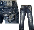 *NWT - Rock Revival Mens Scion Distressed Slim Bootcut Jeans - 30 31 32 34 36 $98.99 USD on eBay