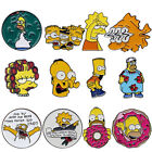 The Simpsons Enamel Pins Homer Bart Burns Brooch Badge Kids Gifts Collectibles image
